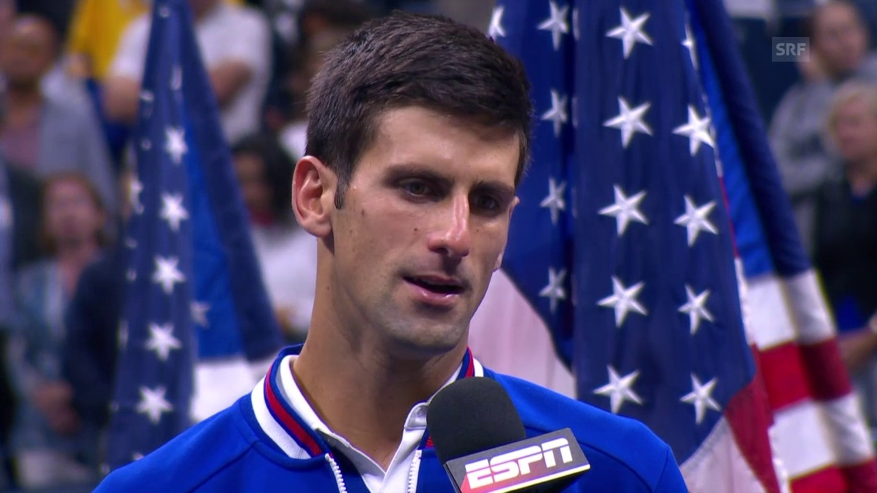Tennis: US Open, Final, Novak Djokovic im Platzinterview