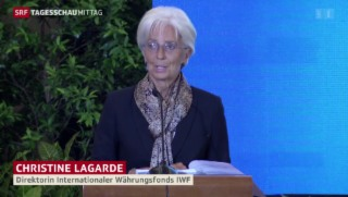 Video «Lagarde zur Börsensituation» abspielen