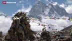 Video «Mehrere Tote auch am Mount Everest» abspielen