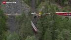 Video «Bergung des abgestürzten Wagens bei Tiefencastel» abspielen