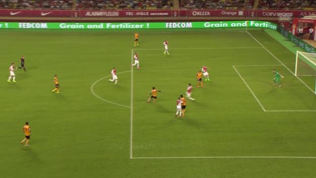 Video «Fussball: CL-Quali, Monaco - YB, Chance Afum» abspielen