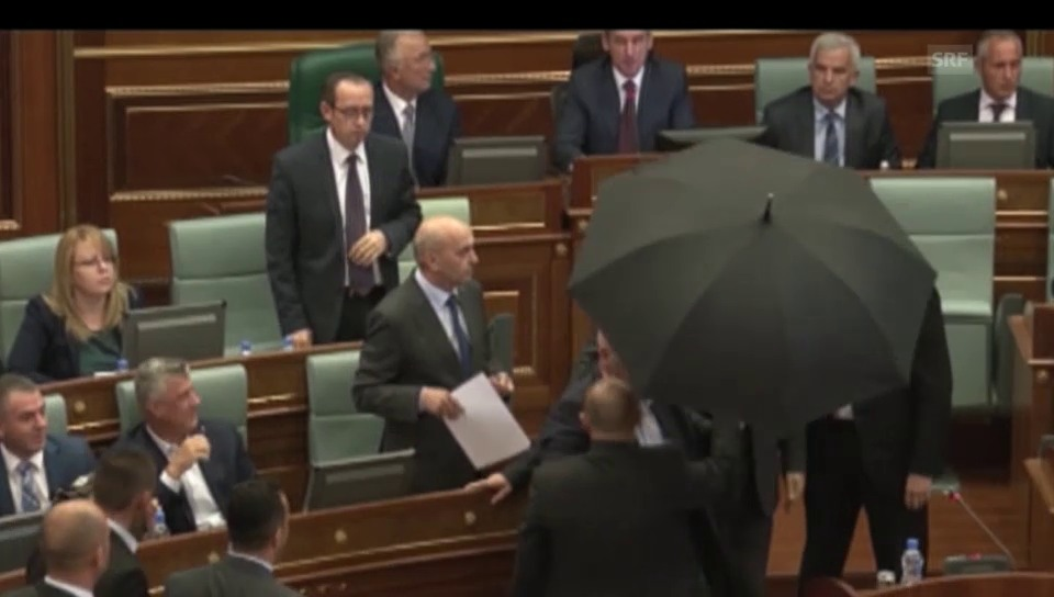 Eklat im Parlament
