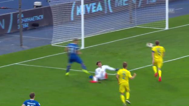 Video «Unglücksrabe Kutscher: Das 1:0 von Island» abspielen