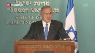 Video «Netanjahu weist Kerrys Kritik zurück» abspielen