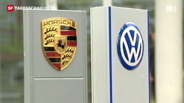 Video «VW integriert Porsche. (Tagesschau, 05.07.2012, 12.45)» abspielen