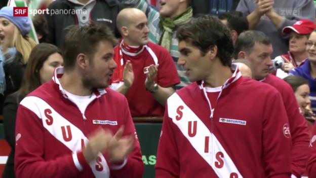 Video «Tennis: Daviscup, Serbien-Schweiz» abspielen