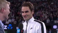 Link öffnet eine Lightbox. Video Federer über seine «Glace-Diät» abspielen