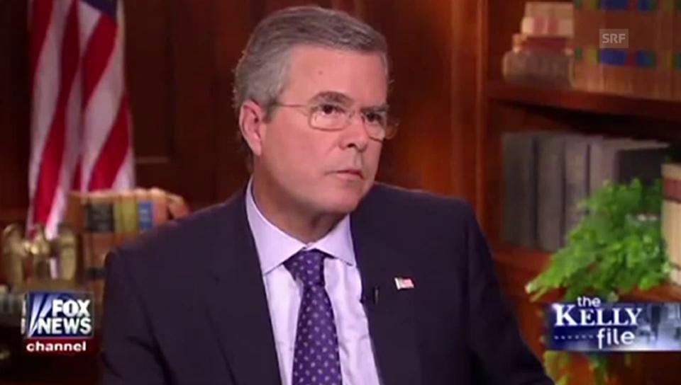Jeb Bush: «Auch ich wäre in den Irak einmarschiert»