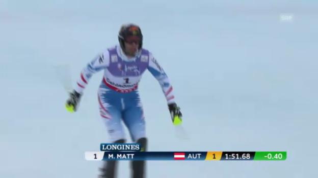 Video «WM-Slalom: 2. Lauf Matt» abspielen
