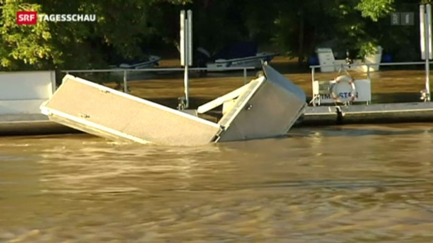 Video «Gefahr von Hochwasser noch nicht gebannt» abspielen