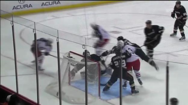 Video «NHL: Hillers Doppel-Parade im 1. Drittel» abspielen