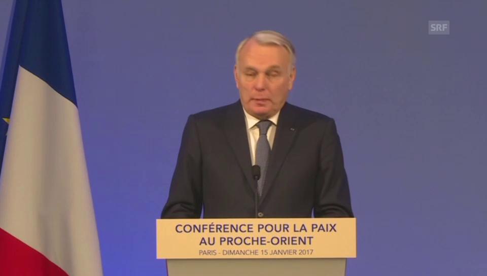 Aussenminister Ayrault plädiert für Zwei-Staaten-Lösung