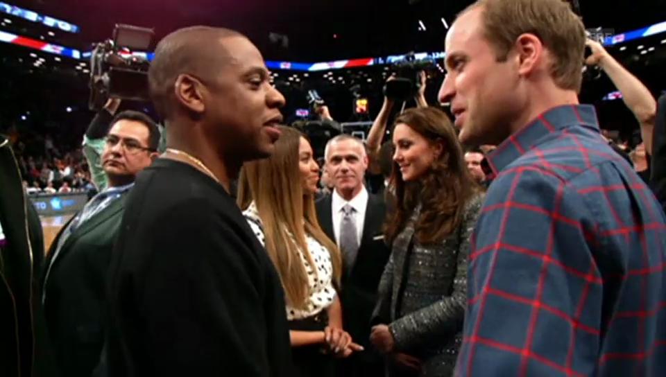Kate und William treffen Jay-Z und Beyoncé (Video ohne Ton)
