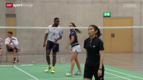 Video ««Tscheggsch de Pögg» – Badminton: Wenn Männer mit Frauen» abspielen