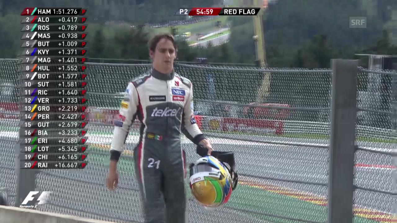 F1-Training: Gutierrez muss nach Dreher zur Box zurücklaufen