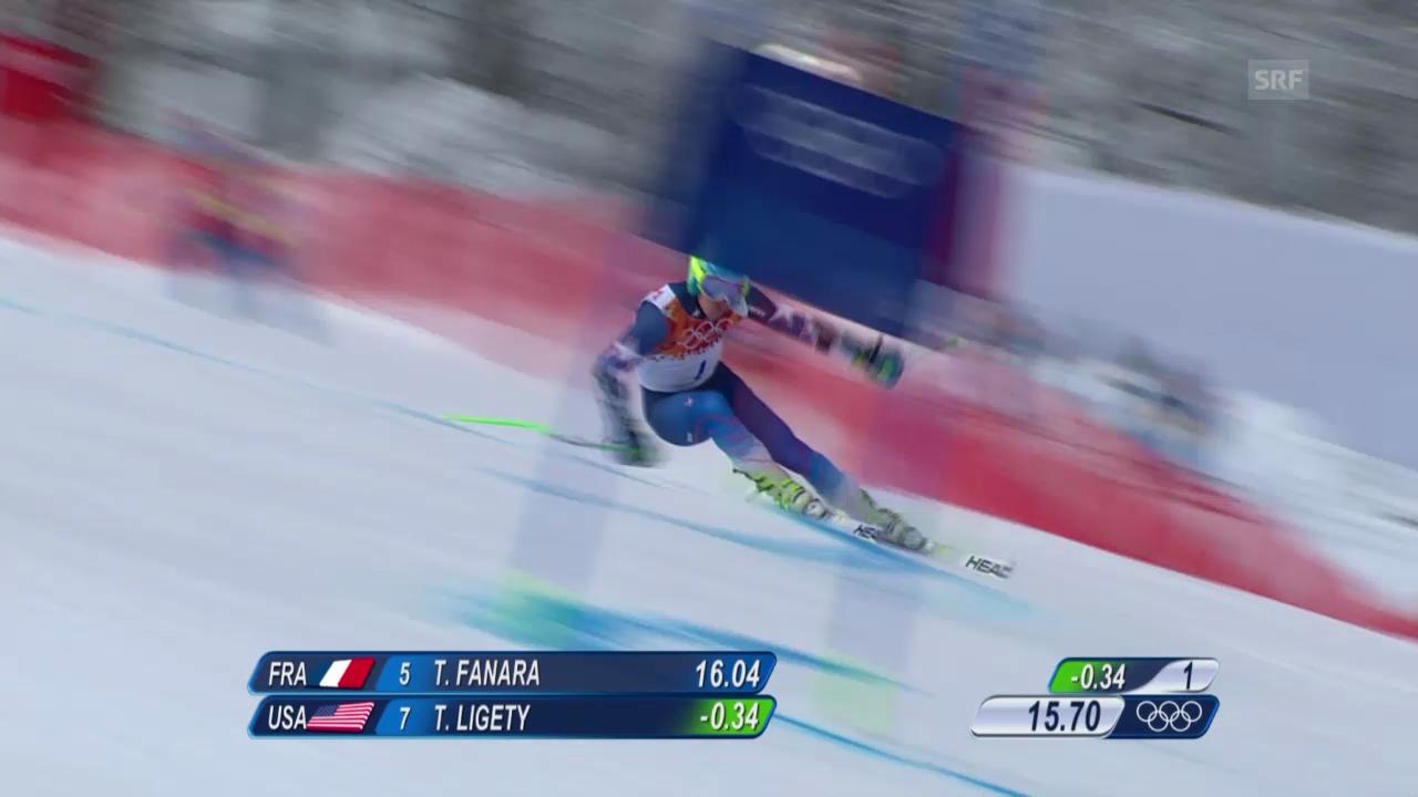 Ski: Riesenslalom Männer Sotschi, Zusammenfassung 1. Lauf (19.2.14)