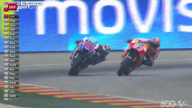 Video «Motorrad: MotoGP von Aragon» abspielen