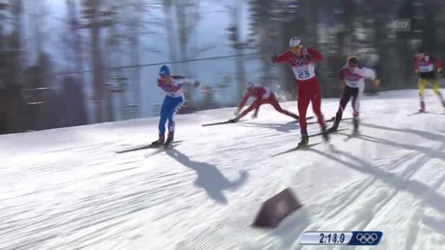 Video «Langlauf: Sprint Männer, Viertelfinal (Sotschi direkt, 11.02.2014)» abspielen