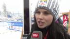 Video «Ski alpin: Anna Fenninger über die WM-Abfahrtsstrecke «Raptor»» abspielen