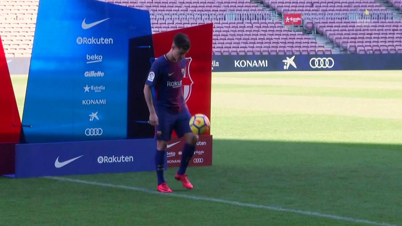 Coutinho im Camp Nou vorgestellt