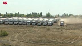 Video «Russischer Konvoi steuert Separatisten an» abspielen