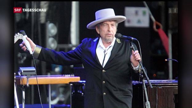 Video «Bob Dylan erhält den literarischen Ritterschlag» abspielen