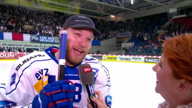 Video «Eishockey: Interview mit ZSC-Stürmer Ryan Keller» abspielen