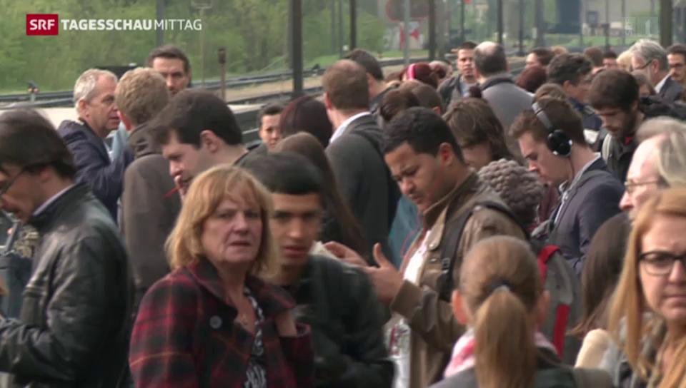 Wartezeiten für Pendler nach Zugunfall