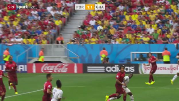 Video «FIFA WM 2014: Spielbericht Ghana - Portugal» abspielen