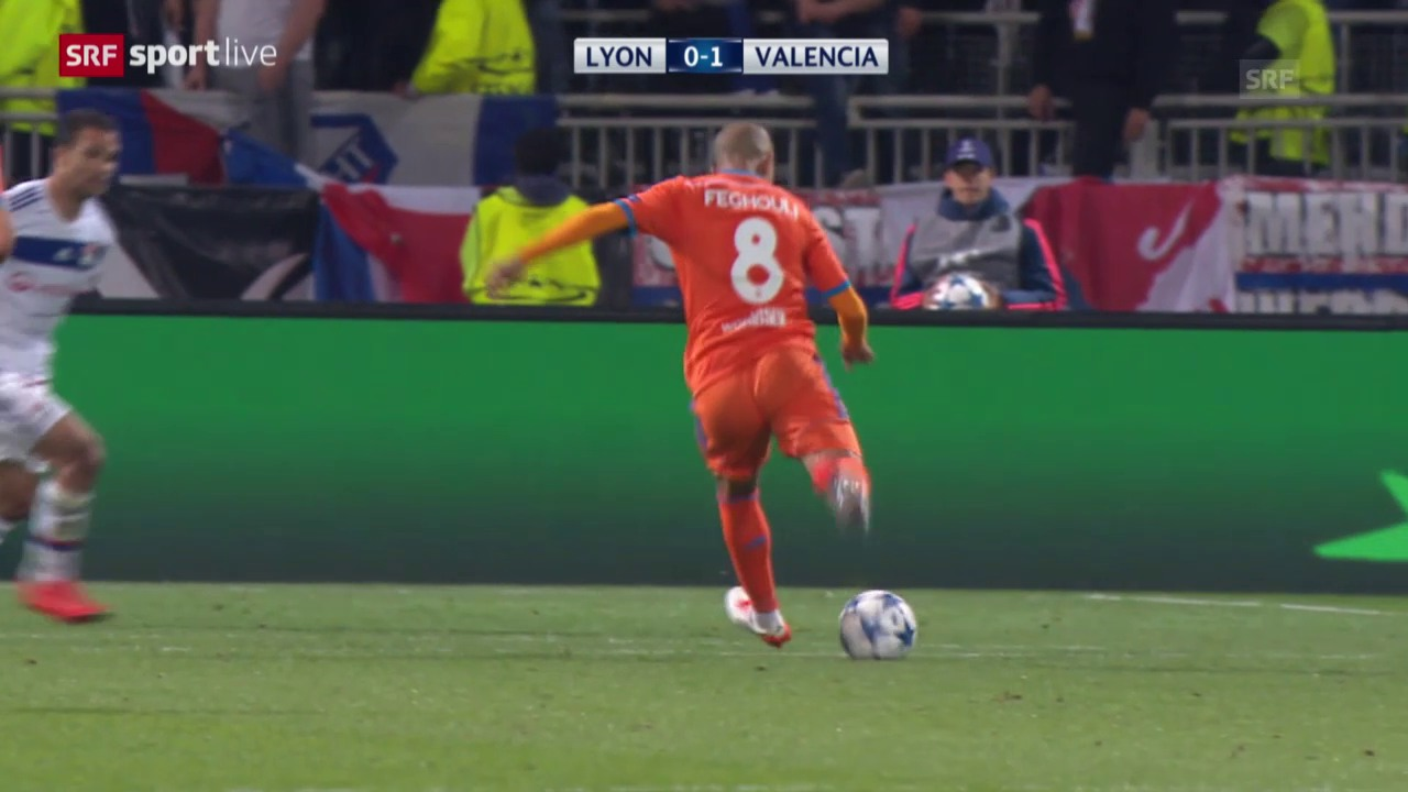 Fussball: Champions League, Gruppenphase, 2. Spieltag, Lyon - Valencia