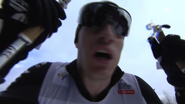 Video «Langlauf: Gianluca Cologna sprintet auf Rang 3» abspielen