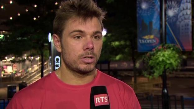 Video «Wawrinka-Interview nach Sieg gegen Berdych (französisch)» abspielen
