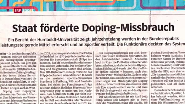 Video «Systematisches Doping in Westdeutschland? («sportaktuell»)» abspielen