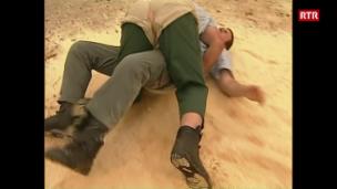 Laschar ir video «Telesguard – Jon Fadri e Dumeng Carpanetti e la lutga»