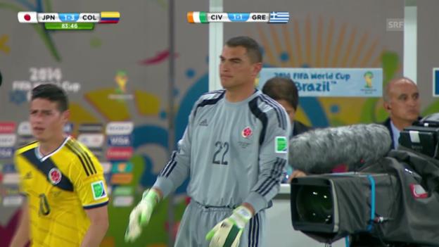 Video «Fussball: Faryd Mondragons Rekord» abspielen