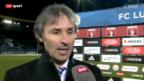 Video «Fussball: Reaktionen von Luzerner Seite» abspielen