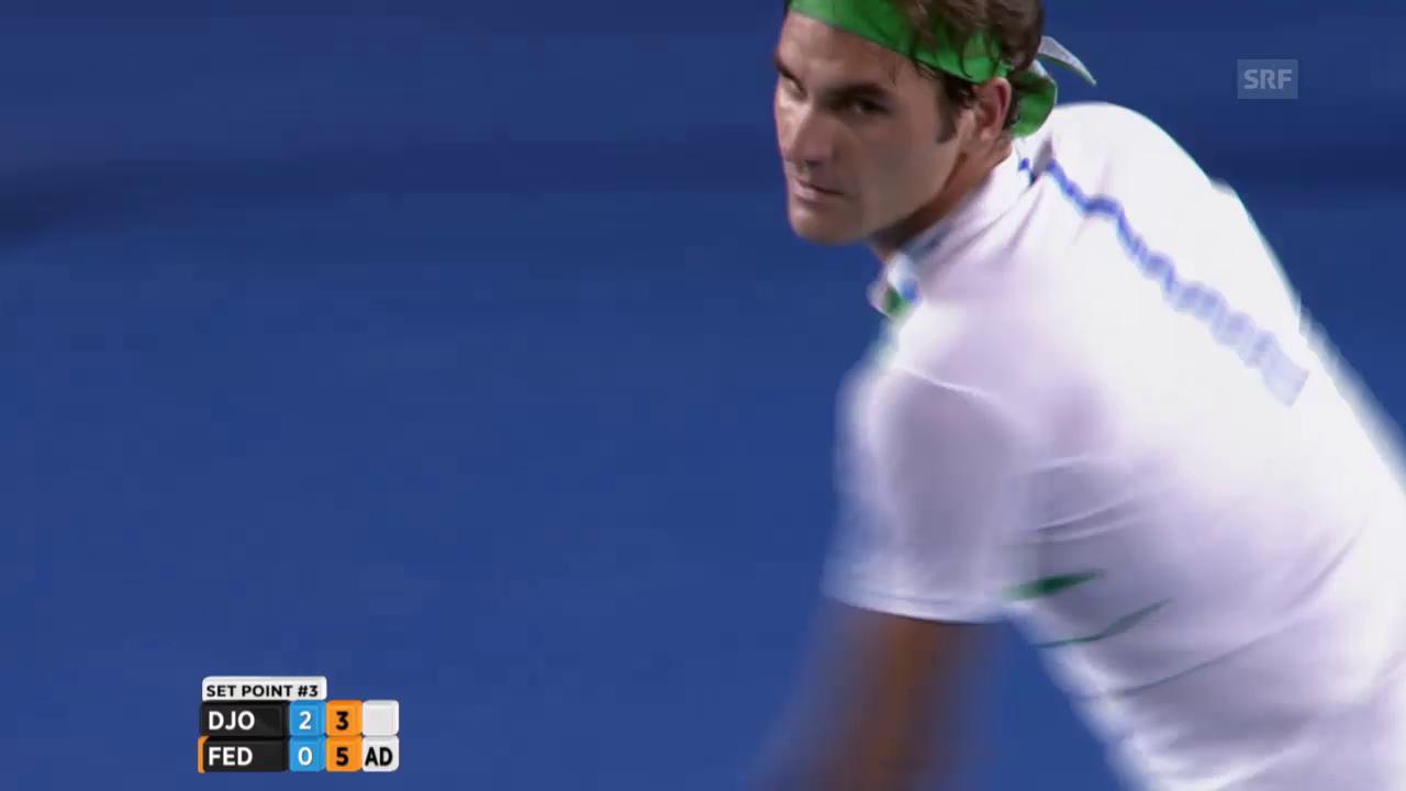 Comeback: Federer gewinnt Satz 3