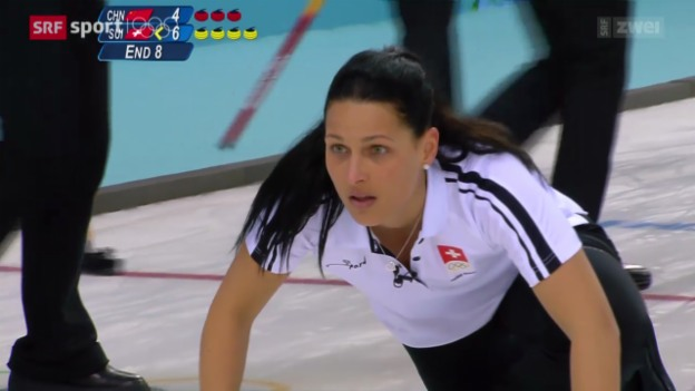 Video «Curling Frauen: Schweiz - China» abspielen