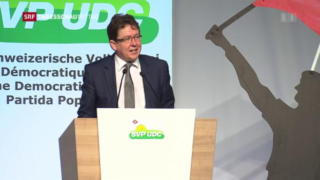Video «SVP-Präsident Rösti mobilisiert gegen Energiegesetz» abspielen