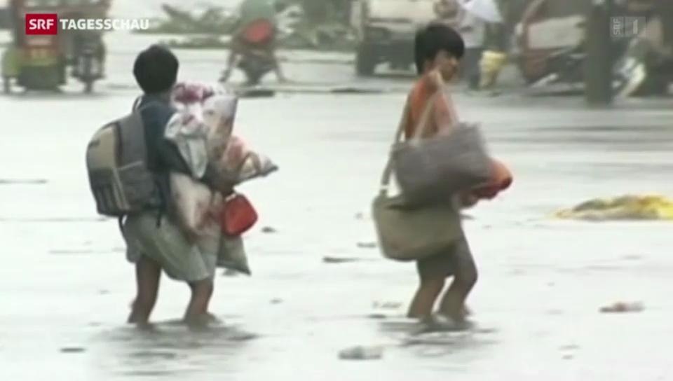 Zerstörerischer Taifun auf den Philippinen