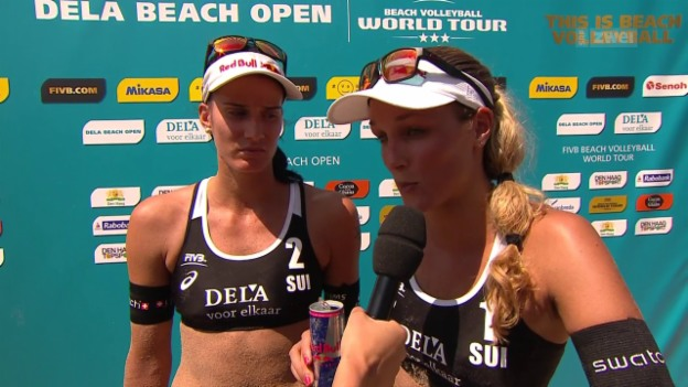 Video «Beachvolleyball: Frauen-Final am World-Tour-Turnier in Den Haag» abspielen