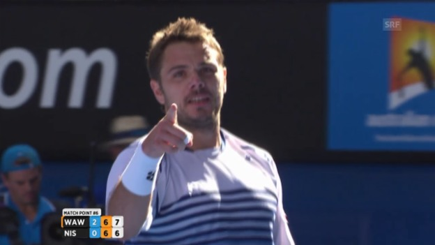 Video «Tennis: Die Highlights Wawrinka - Nishikori» abspielen