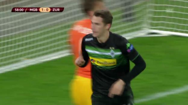 Video «Fussball: EL, Mönchengladbach - FCZ, die Live-Highlights» abspielen