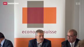 Video «Erster Auftritt des neuen Economiesuisse-Präsidenten » abspielen