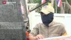 Video «Thailändische Proteste trotz Wahlen» abspielen