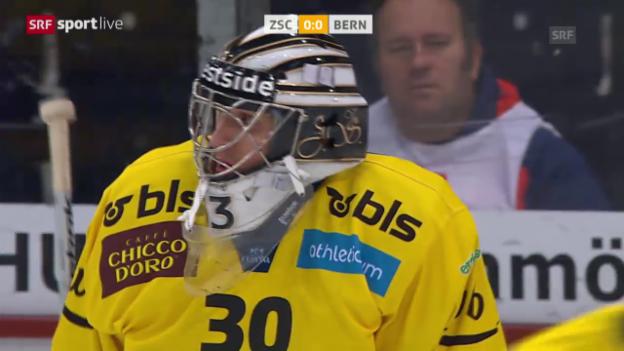 Video «Big Save von Stepanek in den Viertelfinals gegen die ZSC Lions» abspielen