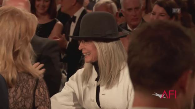 Video «Diane Keaton wird von Hollywood gefeiert» abspielen