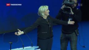 Video «Marine Le Pen startet in den Wahlkampf» abspielen