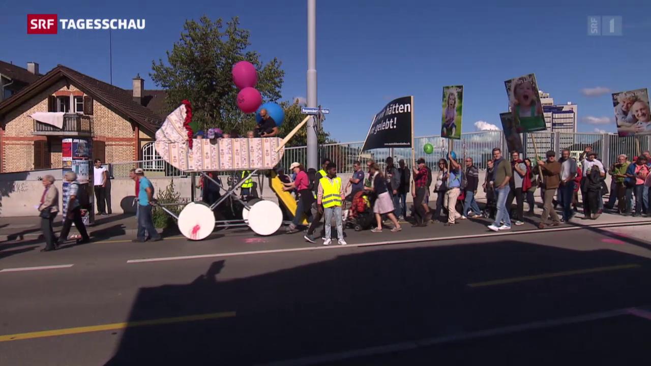 Zürich-Oerlikon: Demo gegen Abtreibung