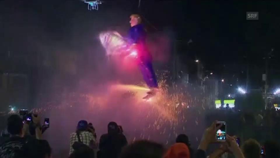Feuerwerk lässt Trump explodieren